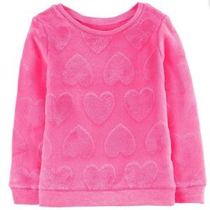 NWOT Carter's Heart Fuzzy Sweater